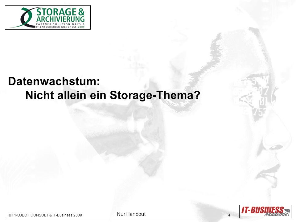 Datenwachstum: Nicht allein ein Storage-Thema