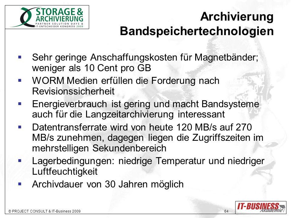 Archivierung Bandspeichertechnologien