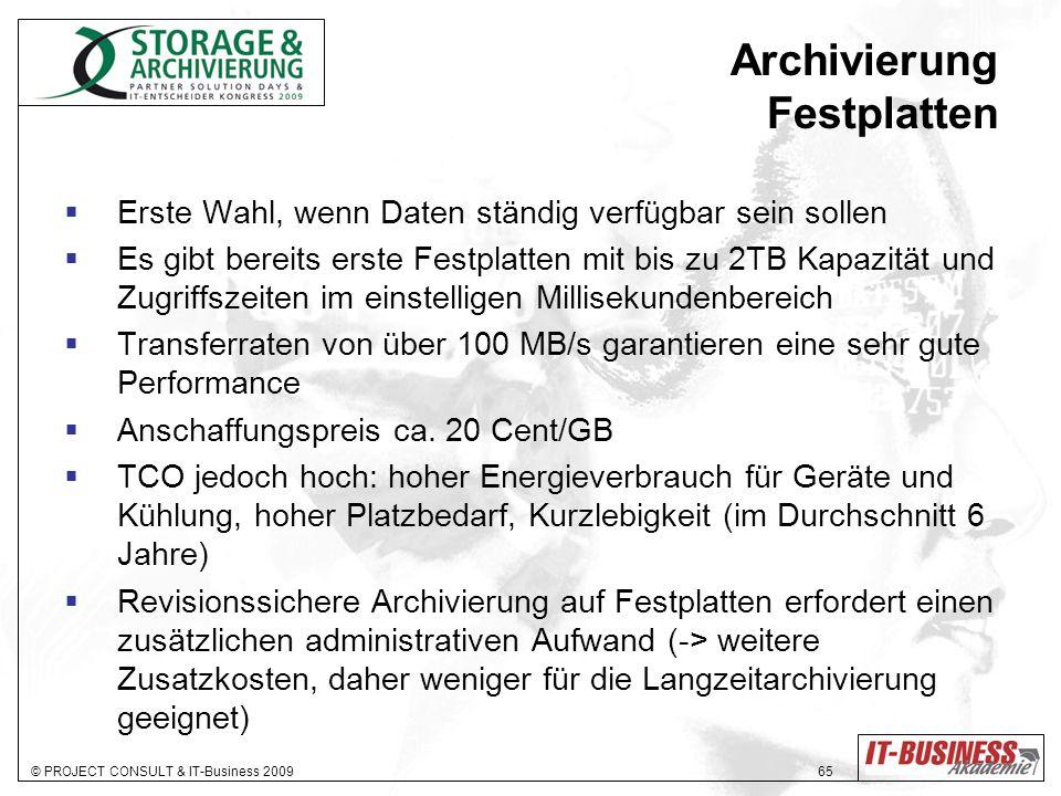 Archivierung Festplatten