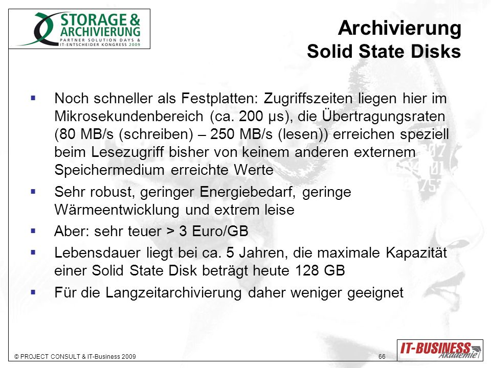Archivierung Solid State Disks