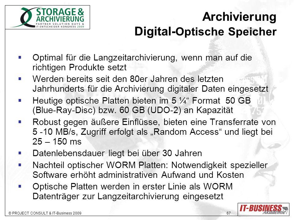 Archivierung Digital-Optische Speicher