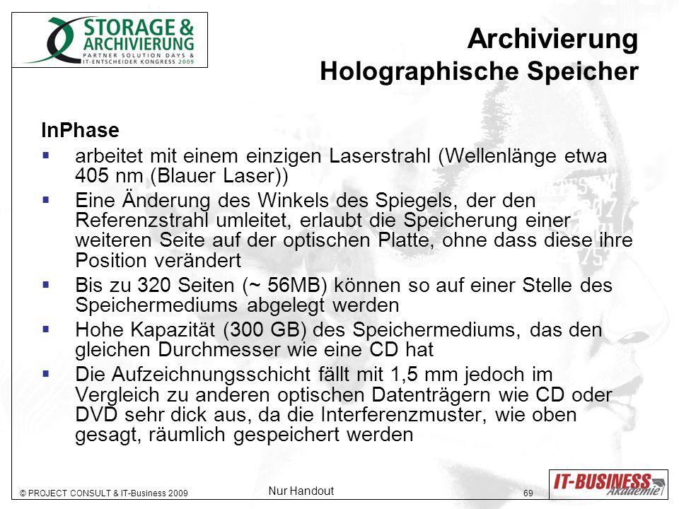 Archivierung Holographische Speicher
