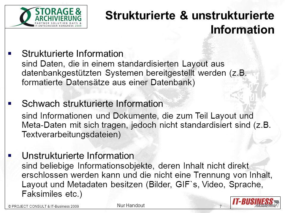 Strukturierte & unstrukturierte Information