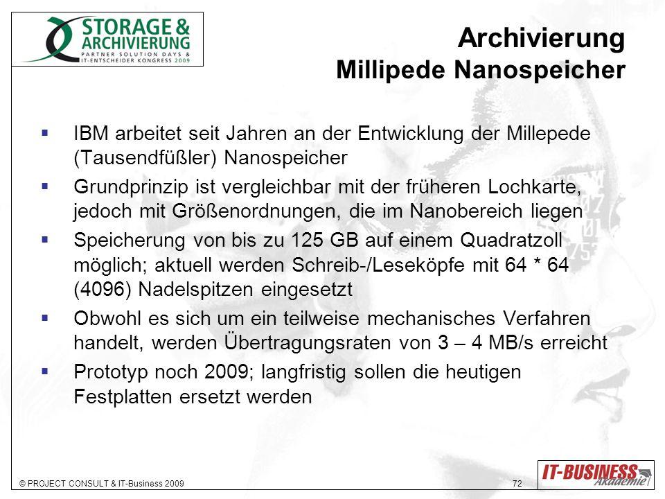 Archivierung Millipede Nanospeicher