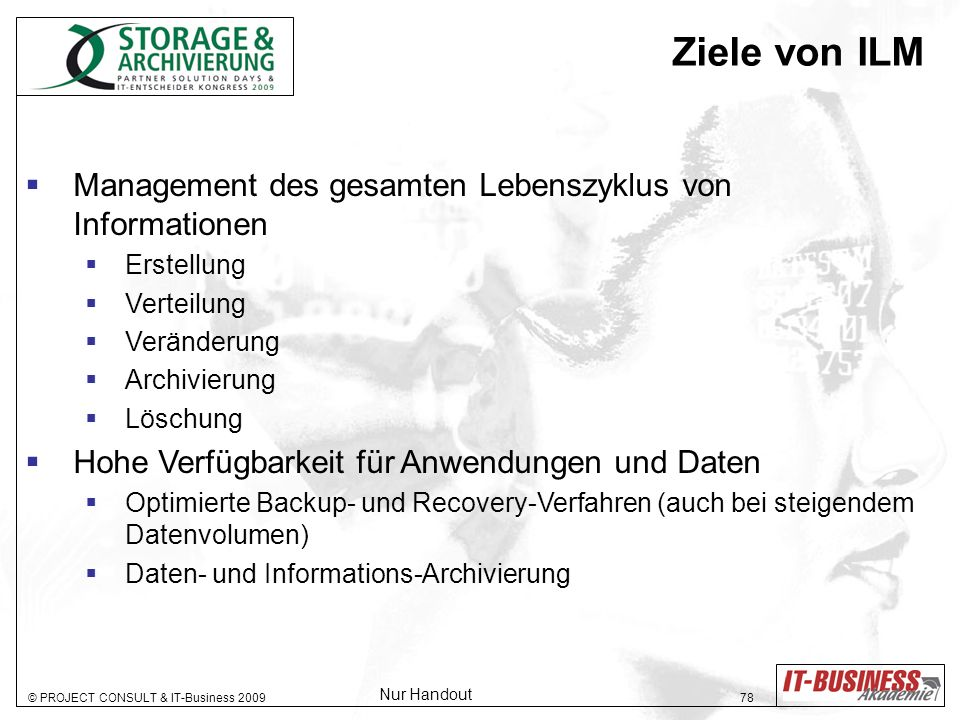 Ziele von ILM Management des gesamten Lebenszyklus von Informationen