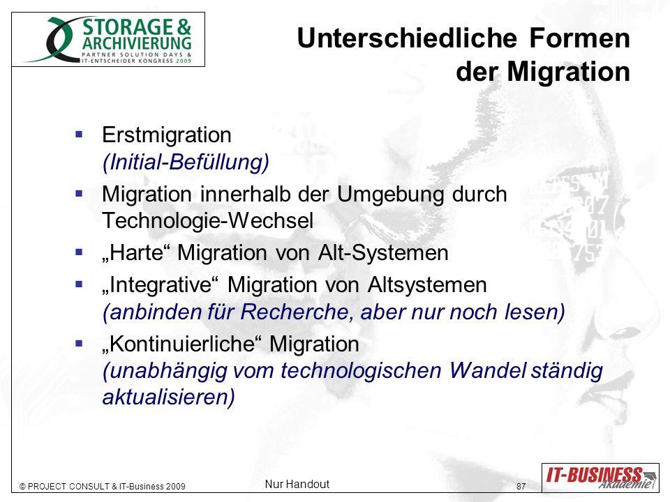 Unterschiedliche Formen der Migration