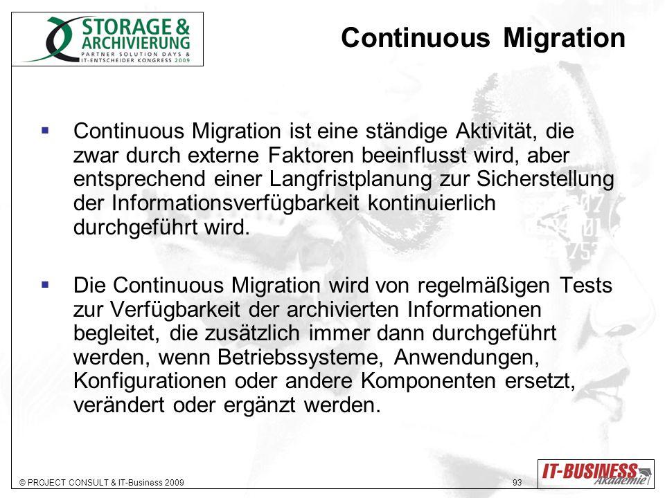Continuous Migration