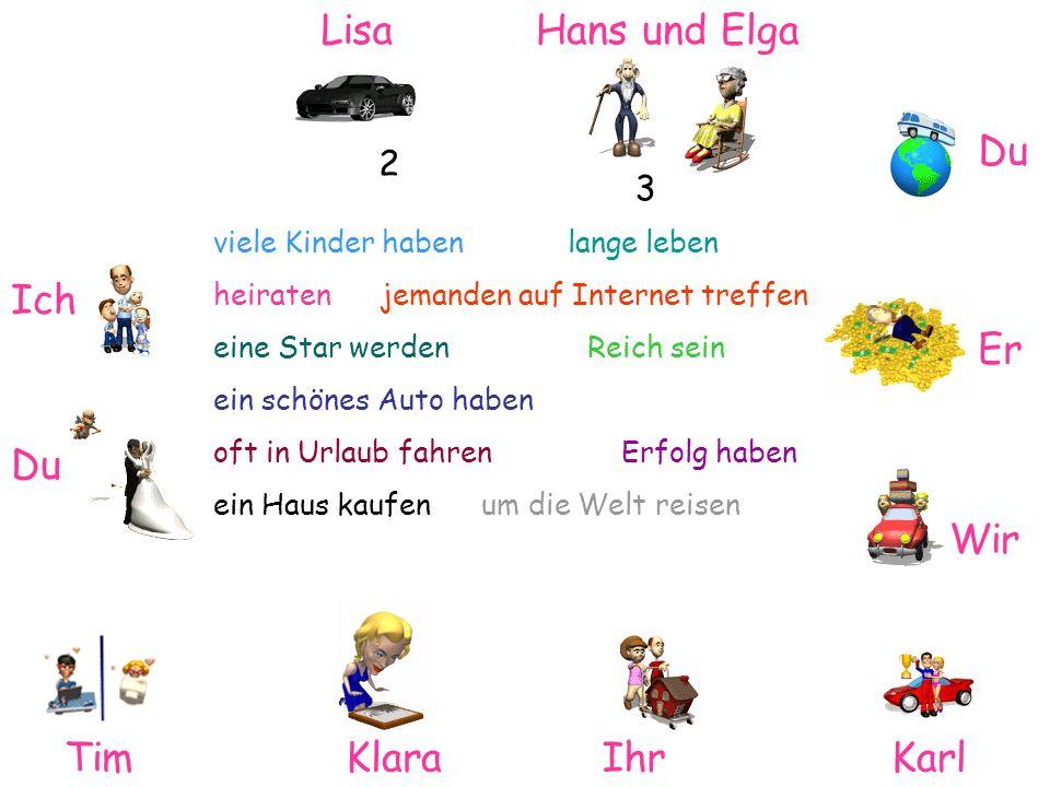 Lisa Hans und Elga Du Ich Er Du Wir Tim Klara Ihr Karl 2 3