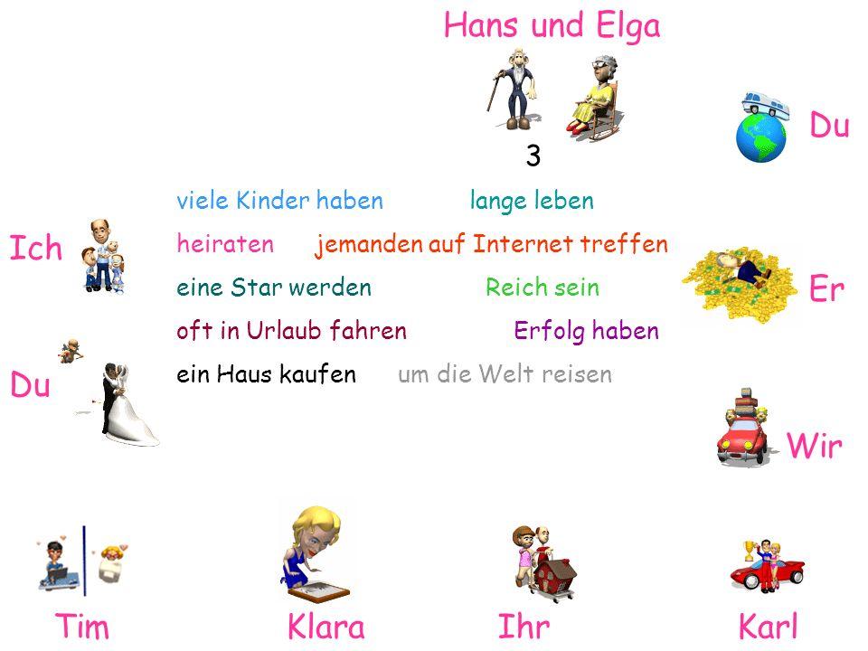 Hans und Elga Du Ich Er Du Wir Tim Klara Ihr Karl 3