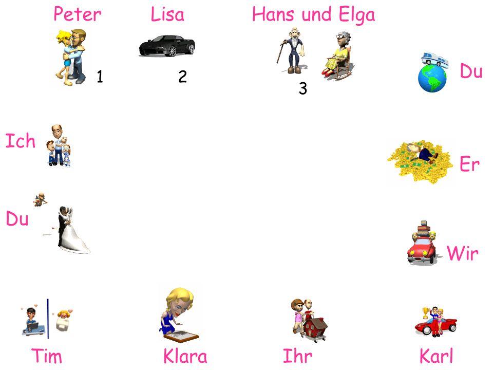 Peter Lisa Hans und Elga Du 1 2 3 Ich Er Du Wir Tim Klara Ihr Karl
