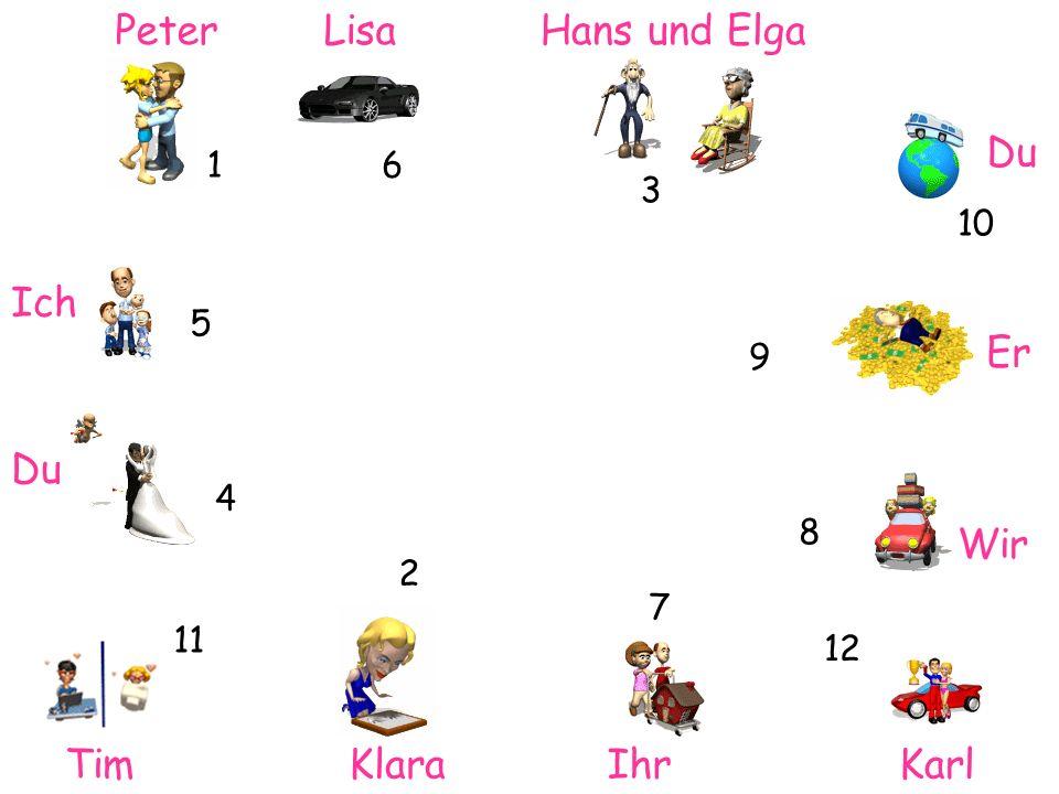 Peter Lisa Hans und Elga Du Ich Er Du Wir Tim Klara Ihr Karl 1 6 3 10