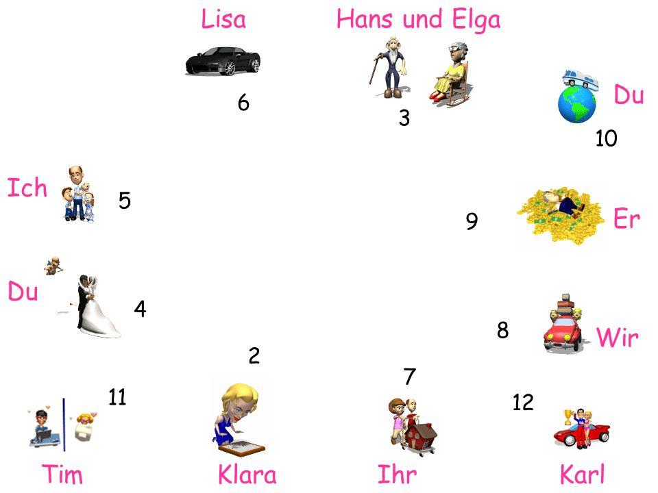 Lisa Hans und Elga Du Ich Er Du Wir Tim Klara Ihr Karl 6 3 10 5 9 4 8