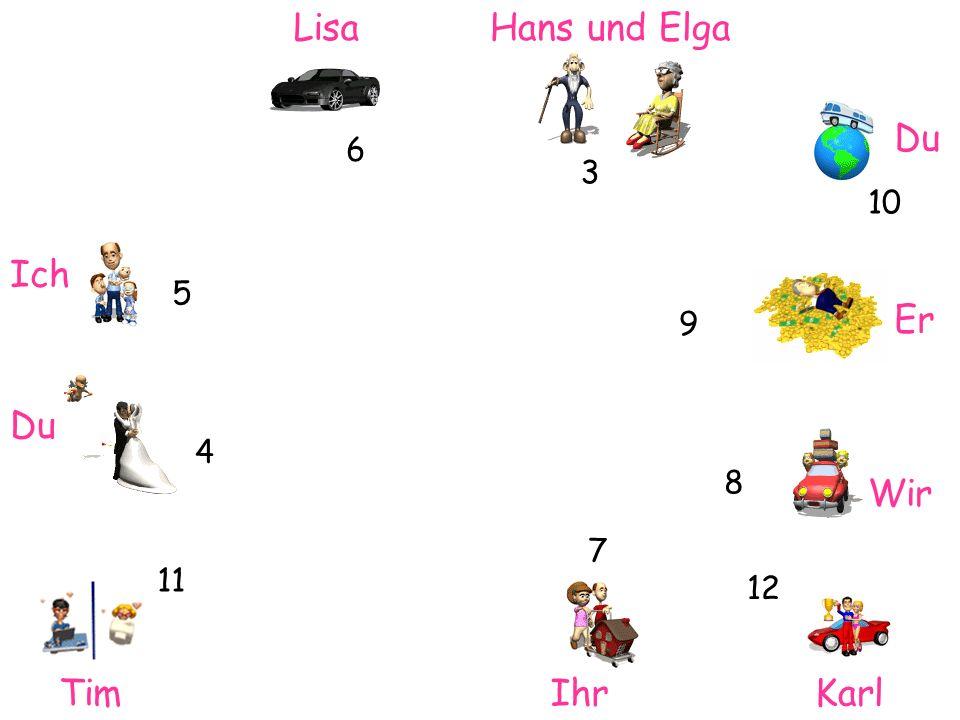 Lisa Hans und Elga Du Ich Er Du Wir Tim Ihr Karl 6 3 10 5 9 4 8 7 11