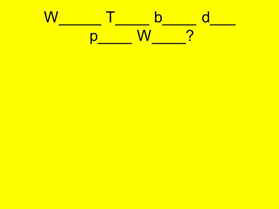 W_____ T____ b____ d___ p____ W____