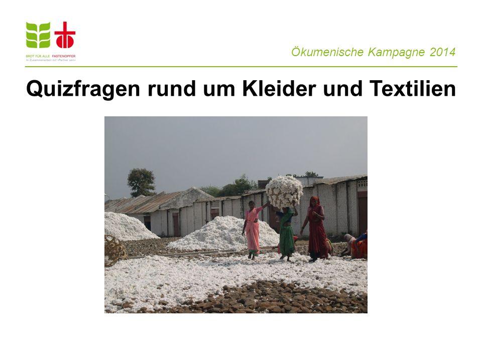 Quizfragen rund um Kleider und Textilien