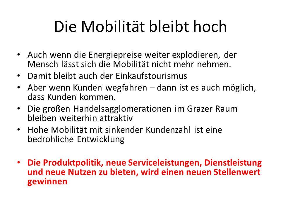 Die Mobilität bleibt hoch