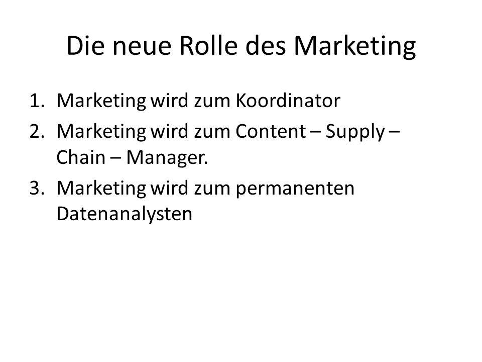Die neue Rolle des Marketing