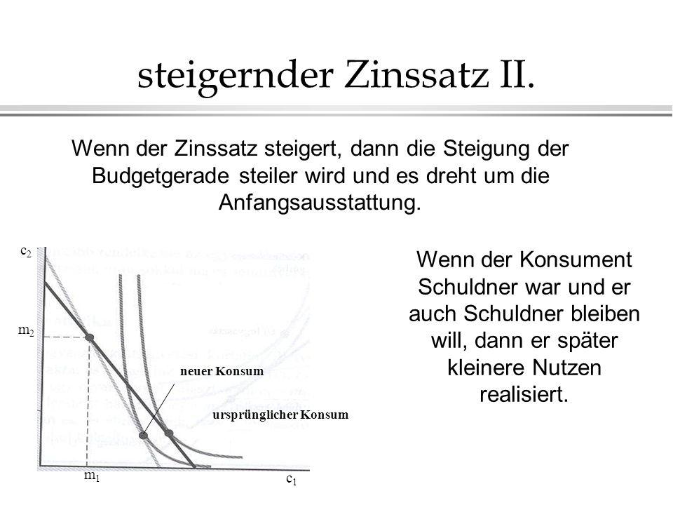 steigernder Zinssatz II.