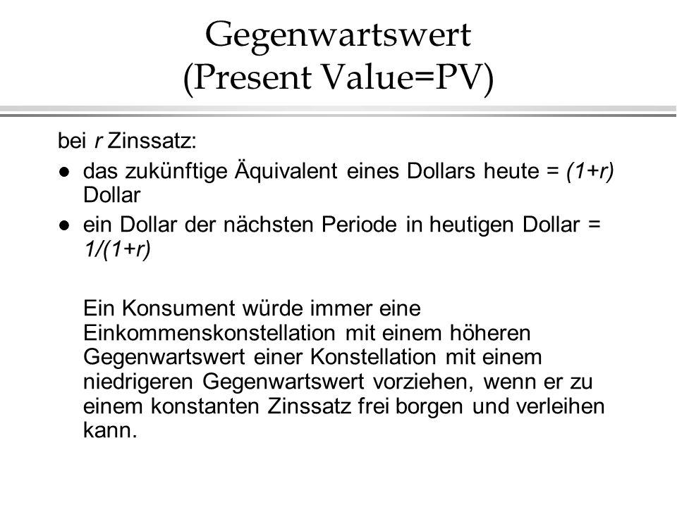 Gegenwartswert (Present Value=PV)