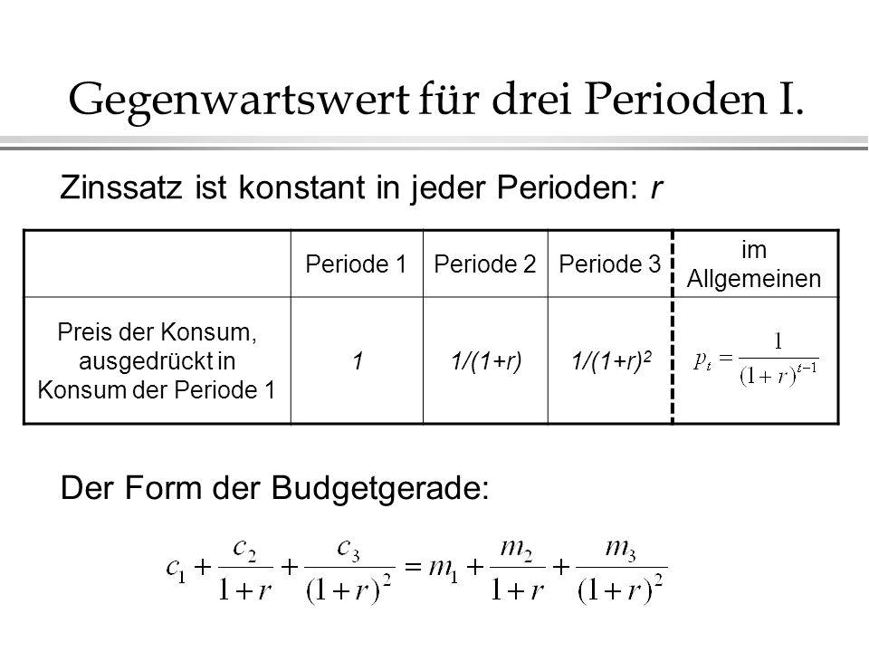 Gegenwartswert für drei Perioden I.