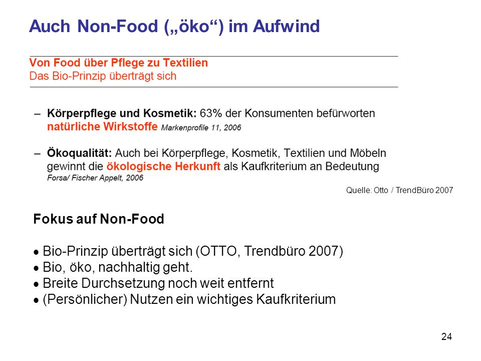 """Auch Non-Food (""""öko ) im Aufwind"""