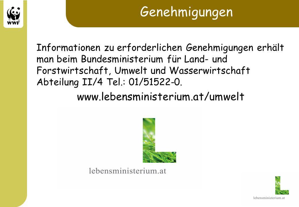 Genehmigungen www.lebensministerium.at/umwelt