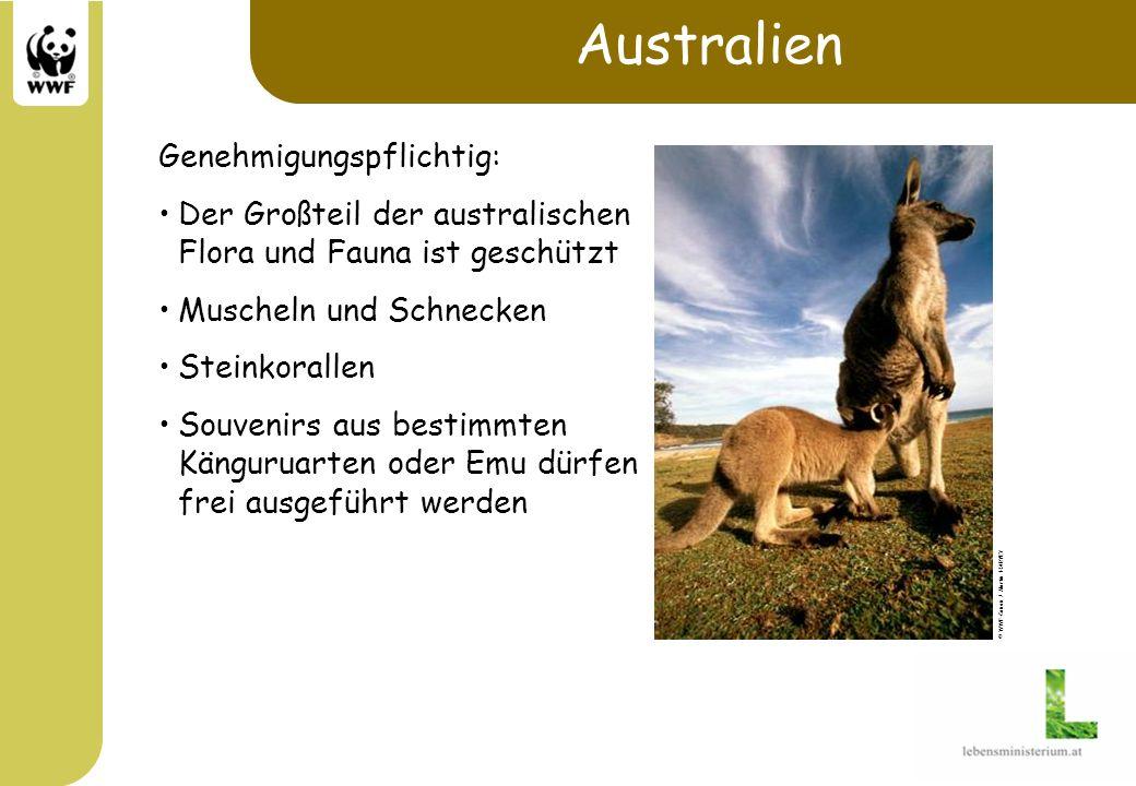 Australien Genehmigungspflichtig: