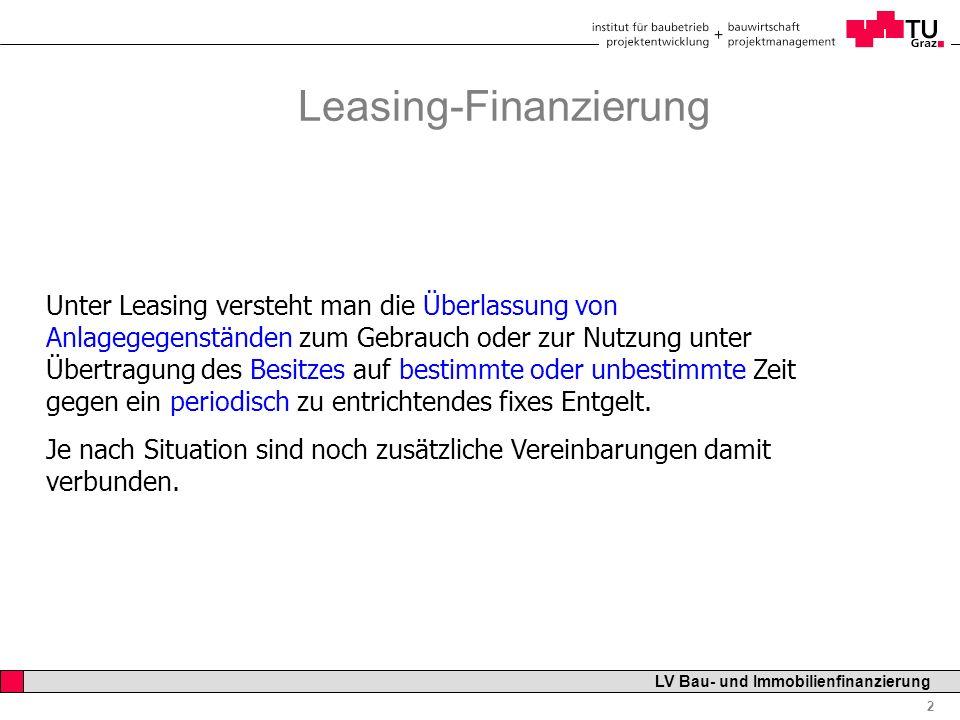 Leasing-Finanzierung