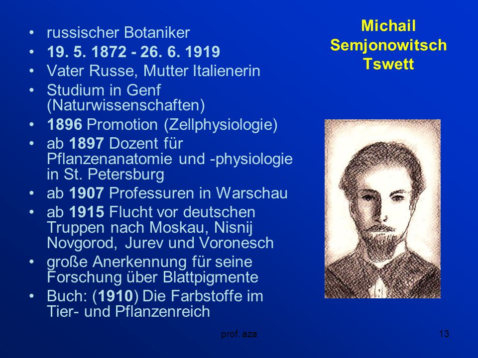 Michail Semjonowitsch Tswett