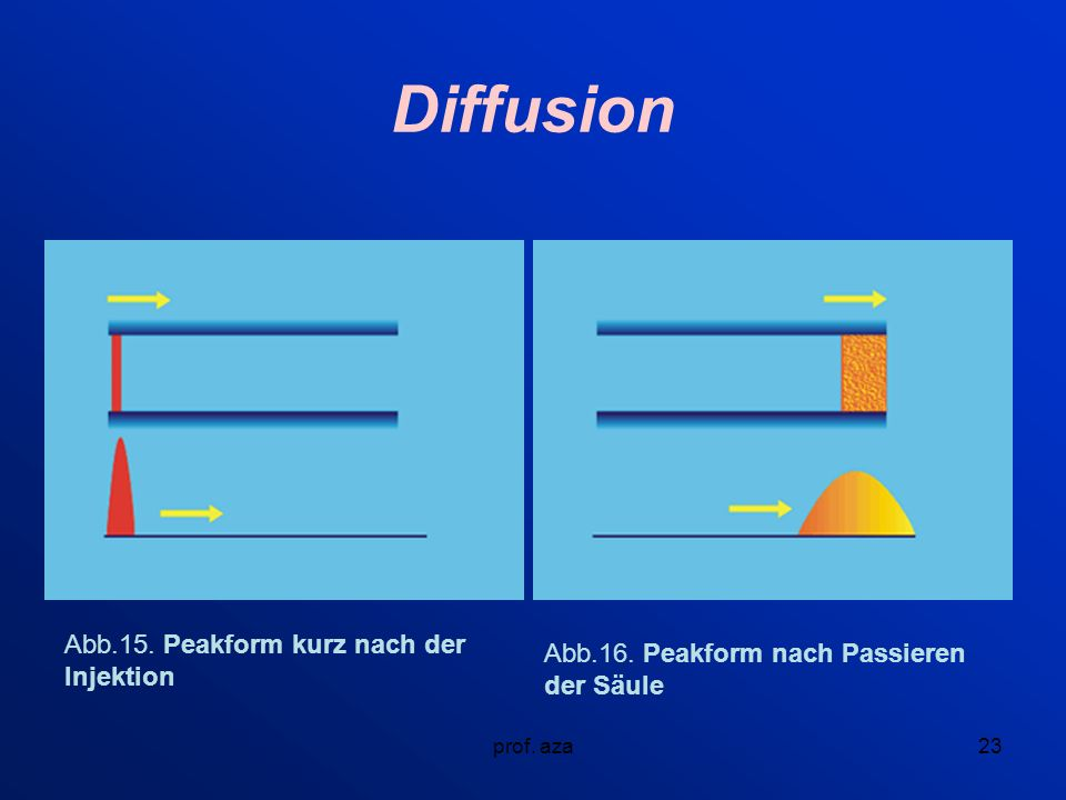 Diffusion Abb.15. Peakform kurz nach der Injektion