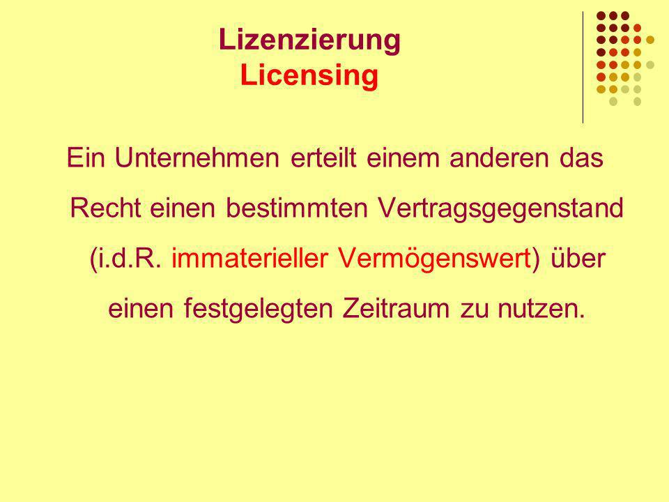 Lizenzierung Licensing