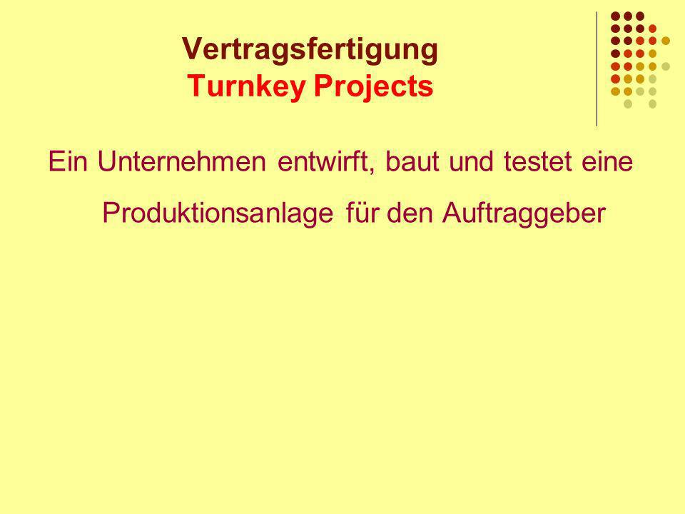 Vertragsfertigung Turnkey Projects