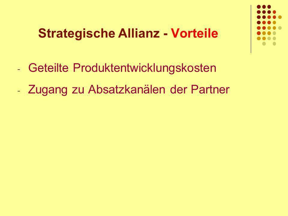 Strategische Allianz - Vorteile