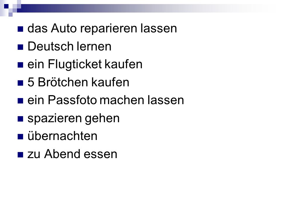 das Auto reparieren lassen