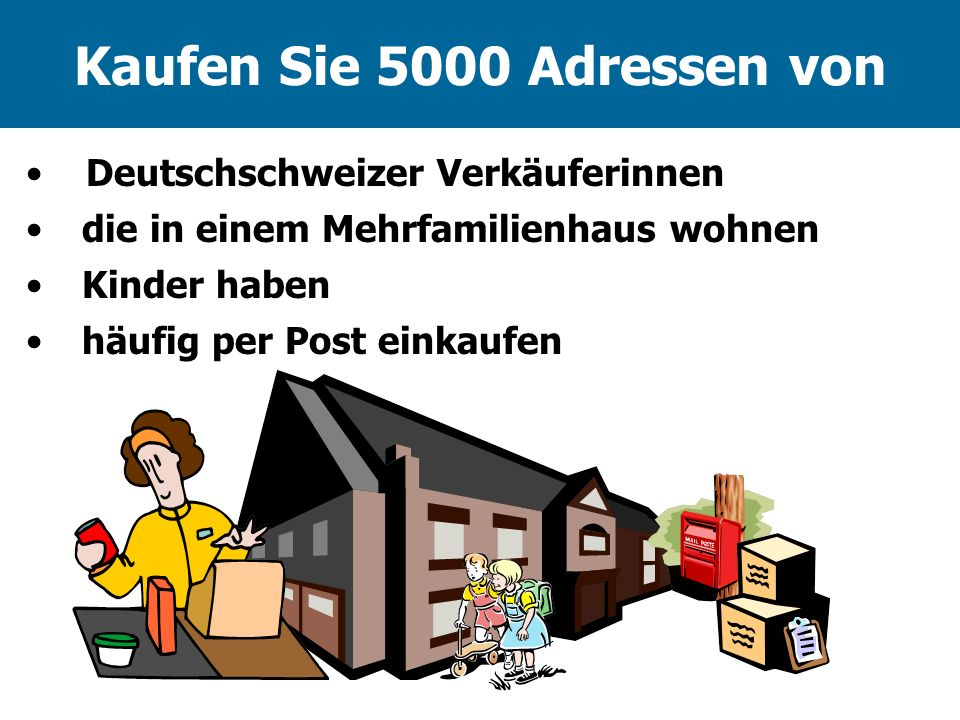 Kaufen Sie 5000 Adressen von