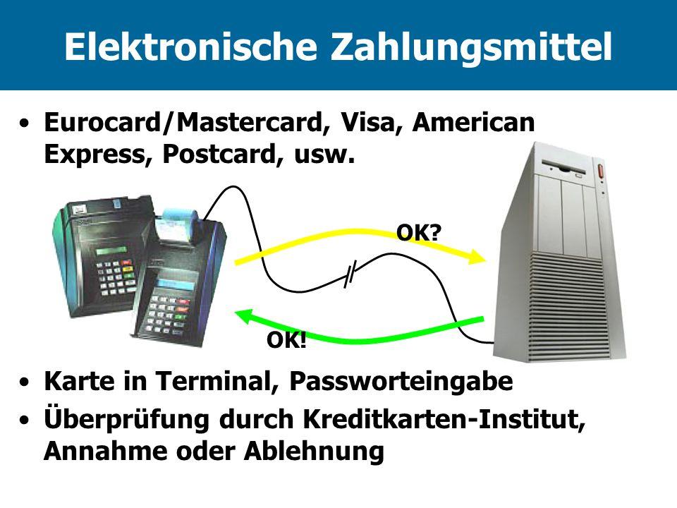 Elektronische Zahlungsmittel