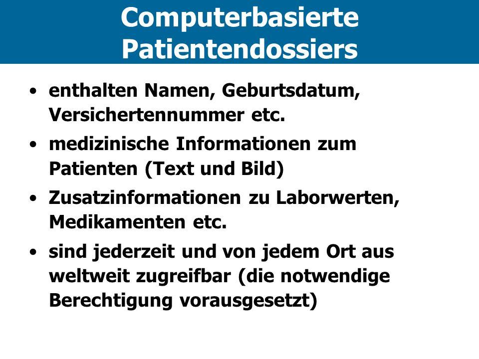 Computerbasierte Patientendossiers