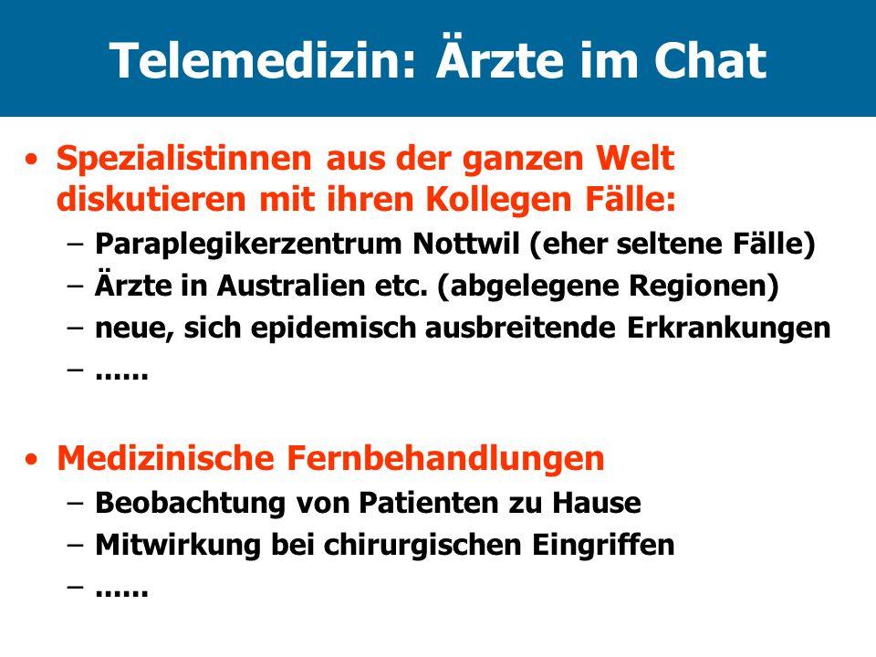 Telemedizin: Ärzte im Chat