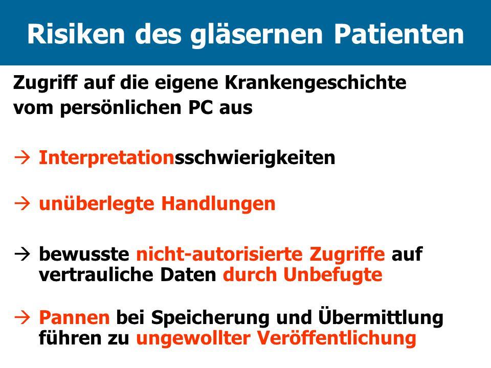 Risiken des gläsernen Patienten