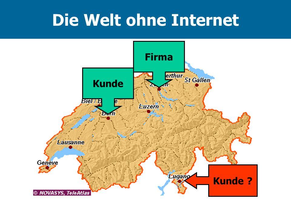 Die Welt ohne Internet Firma Kunde Kunde
