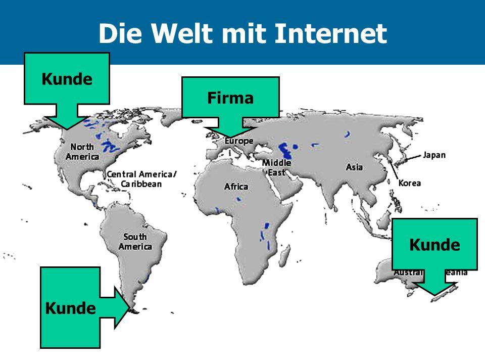 Die Welt mit Internet Kunde Firma