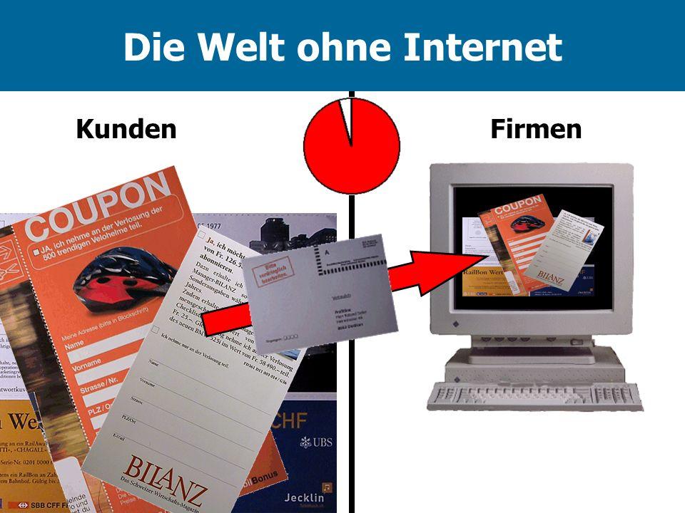 Die Welt ohne Internet Kunden Firmen
