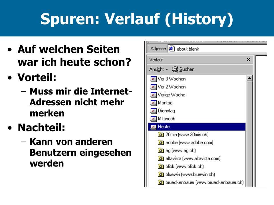 Spuren: Verlauf (History)