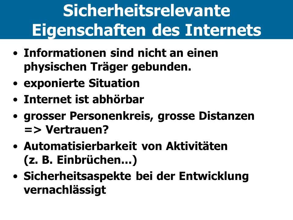 Sicherheitsrelevante Eigenschaften des Internets