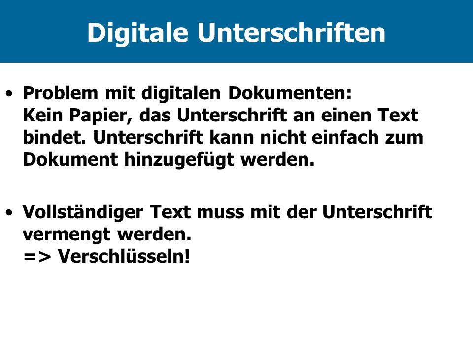 Digitale Unterschriften