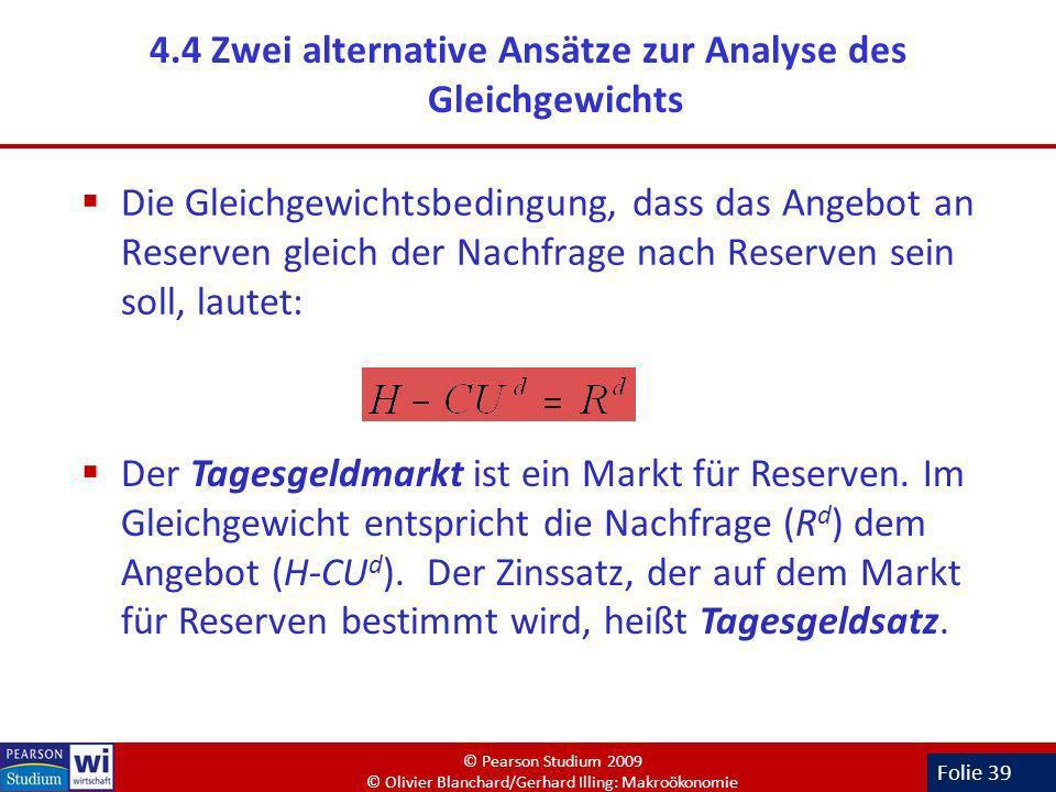 4.4 Zwei alternative Ansätze zur Analyse des Gleichgewichts