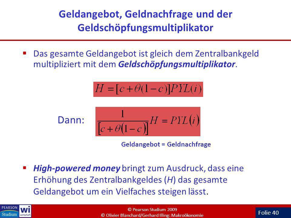 Geldangebot, Geldnachfrage und der Geldschöpfungsmultiplikator