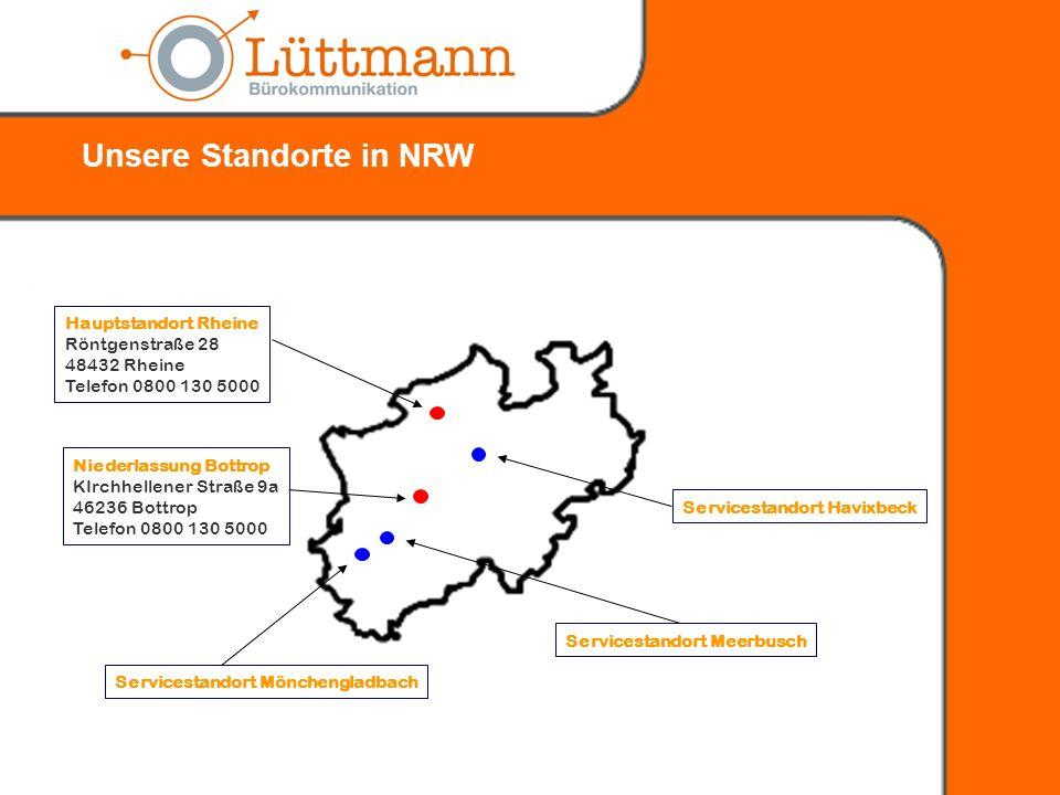 Unsere Standorte in NRW