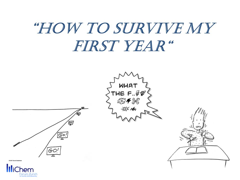 How to survive my first year