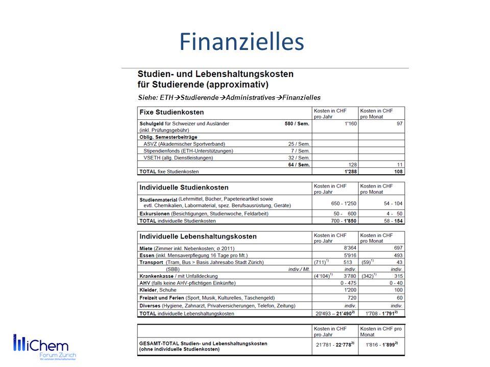 Finanzielles Siehe: ETHStudierendeAdministrativesFinanzielles